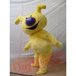 Yellow Dog Cartoon Mascot Costumes Design