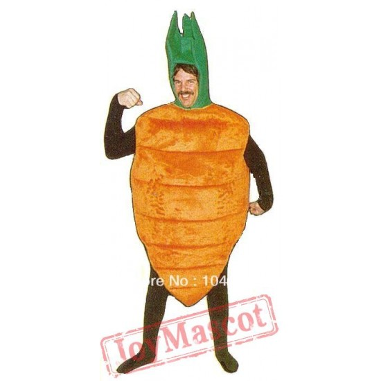Green Carrot Plant Mascot Costumes