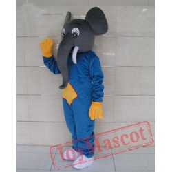 Blue Elephants Cartoon Mascot Costumes