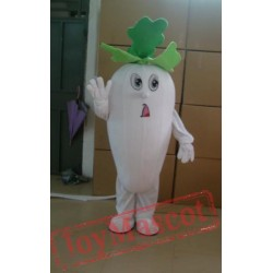 Vegetables White Turnip Mascot Costumes Halloween Easter