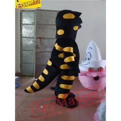 Black Dinosaur Cartton Mascot Costume