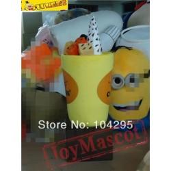 Yellow Cup Ice Cream Mascot Costume For Halloween