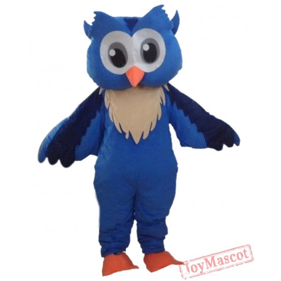 Blue Cool Owl Mascot Costume Animal Costume