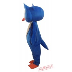 Blue Cool Owl Mascot Costume Animal Costume