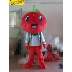 Red Tomato Cartton Mascot Costume Prop