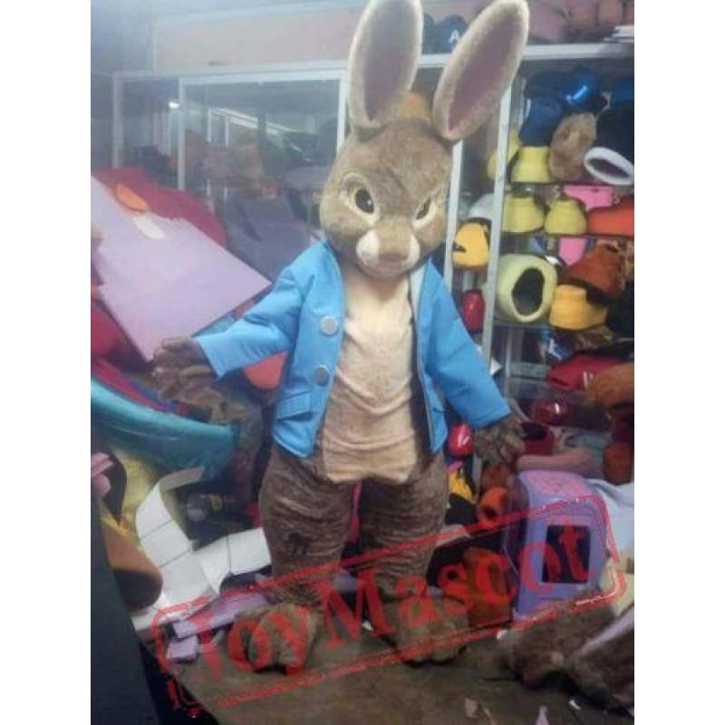 peter rabbit mascot costume halloween brown bunny cosplay