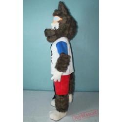 World Football Cup Wolf Mascot Costume