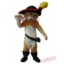 Puss In Boots Mascot Costume Cat Halloween Cartoon