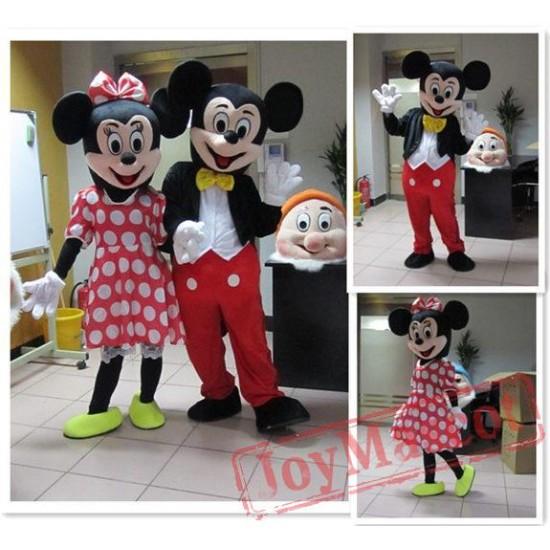 Disney Mickey Minnie Mouse Cartoon Mascot Costume