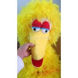 Yellow Feather Sponge Body Adult Big Bird Mascot Costumes