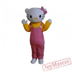Adult Hello Kitty Mascot Costume Cat Mascot