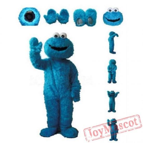 Blue Cookie Monster Sesame Street Cartoon Mascot Costume