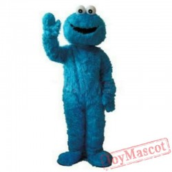 Blue Cookie Monster Sesame Street Cartoon Mascot Costume