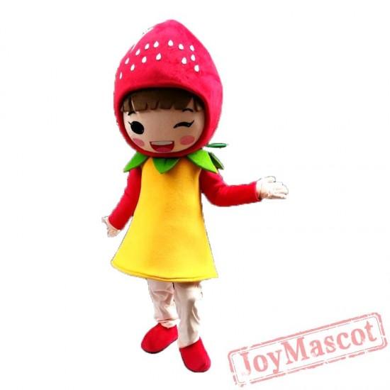 Fruit Strawberry Mascot Costume Cartoon Character