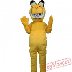 Plush Garfield Cartoon Mascot Costume