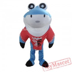 Cute Shark Mascot Costume Funny Eyes For Adult