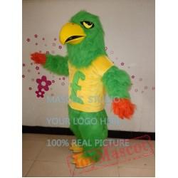 Green Falcon Mascot Costume Plush Green Hawk Eagle Mascot