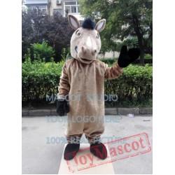 Brown Horse Mascot Costume Mustang Mascot