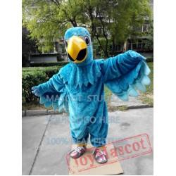Blue Falcon Mascot Costume Eagle Hawk Cartoon
