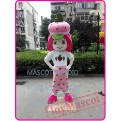 Strawberry Girl Mascot Costume