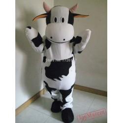 Mascot Milk Cow Mascot Dairy Cattle Costume