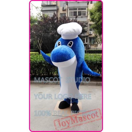 Mascot Seafood Whale Chef Mascot Costume