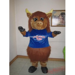 Mascot Highland Cow Mascot Costume
