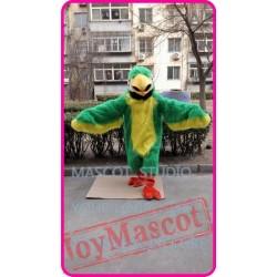 Green Plush Parrot Mascot Costume