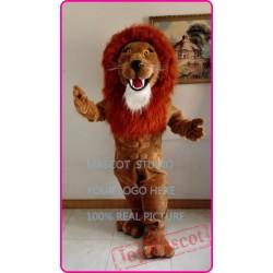 Plush Lion Mascot Simba Leo Costume