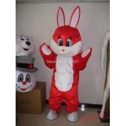 Mascot Easter Red Rabbit Mascot Bunny Costume