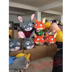 Rabbit Mascot Costume Fox Mascot Cartoon Mascot Costume