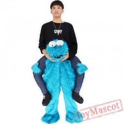 Elmo Stuffed Ride On Me Sesame Street Mascot Carry Back Costums