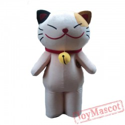 Adult Smiley Cat Mascot Costume Party Lucky Cat Costume