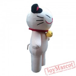 Adult Lovely Smiley Cat Mascot Costume Party Lucky Cat Costume