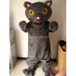 Mascot Grey Plush Persian Cat Mascot Costume