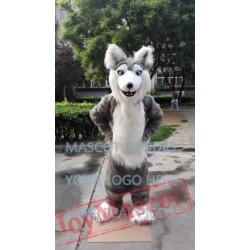 Mascot Realistic Husky Huskie Mascot Costume Dog Fursuit