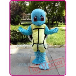 Cartoon Go Mascot Costume Squirtle Blue Turtle