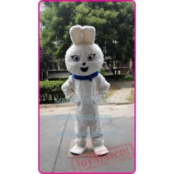 Mascot White Plush Bunny Mascot Costume White Rabbit