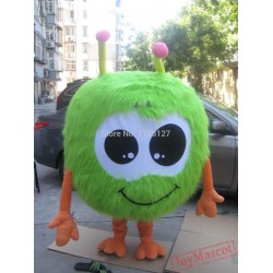 Green Jojo Fur Ball Mascot Costume