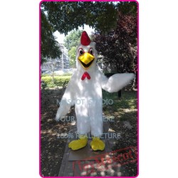 Plush Chicken Mascot Costume White Chicken