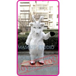 Mascot Plush White Goat Sheep Ram Mascot Costume