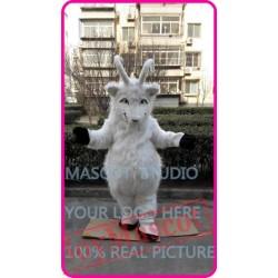 Mascot Plush White Goat Sheep Ram Mascot Costume