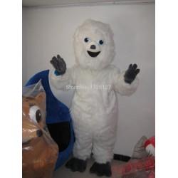 Mascot White Snowman Snow Monster Mascot Costume