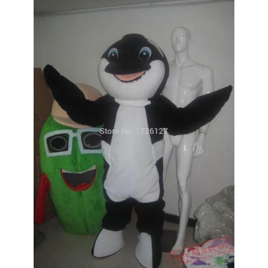 Mascot Black Whale Orca Mascot Costume