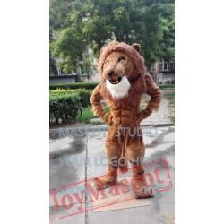 Mascot Muscle Strong Lion Mascot Costume