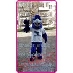 Mascot Blue Plush Eagle Falcon Hawk Mascot Costume