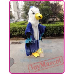 Blue Hawk Mascot Costuem Eagle Falcon