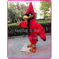 Red Plush Jay Mascot Costume Red Eagle