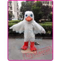 Seagull Mascot Costume Plush White Seagull Pigeon Mascot