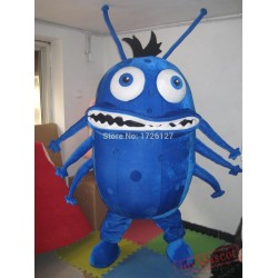 Blue Bacterium Germ Mascot Virus Monster Costume